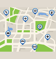 mobile gps navigation map vector image vector image