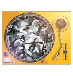 Modern acid color and camouflage turntable vector