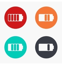 modern battery colorful icons set vector image