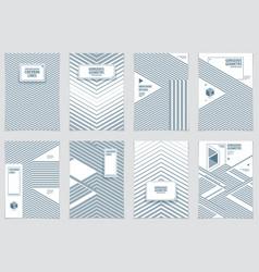 modern minimal template brochures leaflets vector image