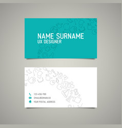 Modern simple business card template for ux vector
