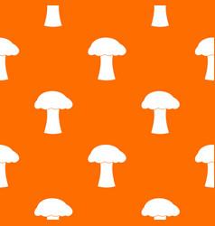mushroom pattern seamless vector image
