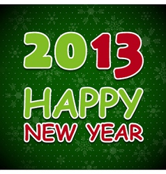 New 2013 year card vector image