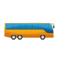 Orange big tour bus isolated on white background vector