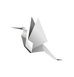Origami stork vector image