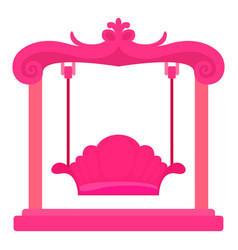 Pink swing icon cartoon style vector