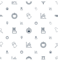 Push icons pattern seamless white background vector