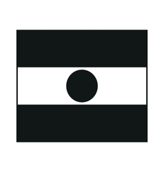 Republic of Niger flag monochrome on white vector