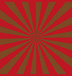 retro rays comic red background vintage vector image