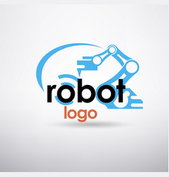 robotic hand stylized logo template vector image