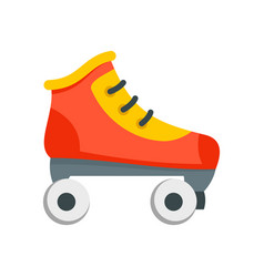 Roller skates icon flat style vector