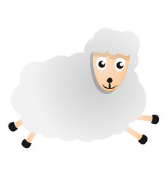 running sheep icon cartoon style vector image