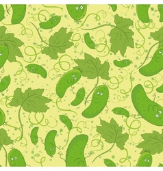 Seamless background cucumbers vector image