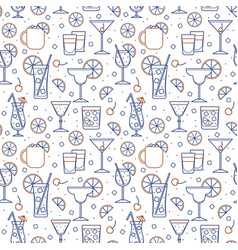 Seamless pattern cocktail glasses high ball vector