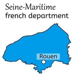 Seine-Maritime french department map vector image
