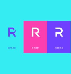 set letter r minimal logo icon design template vector image