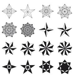 Set of stars Geometric shapes vector