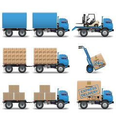 Shipment Icons Set 5 vector image