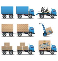 Shipment icons set 5 vector