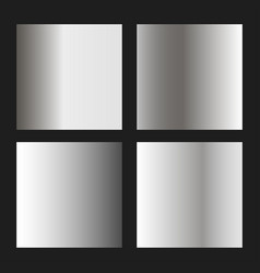 silver gradients vector image