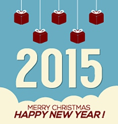 Simply and Clean 2015 New Year Card vector image