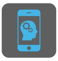 Smartphone Intellect Gears Rounded Square vector