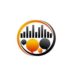 Social research logo design template vector