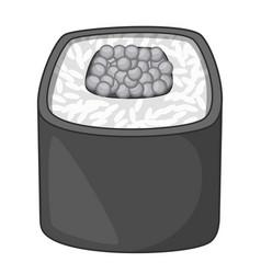 sushi roll icon monochrome vector image