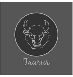 taurus astrological zodiac symbol horoscope sign vector image