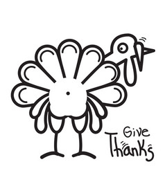 Thanksgiving turkey for happy day vector