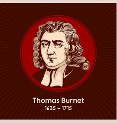 thomas burnet vector image