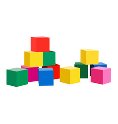 Toy blocks icon on a white background baby vector