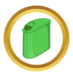 Trash can with lid icon vector