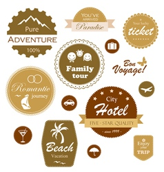 Travel and vacation labels vector image