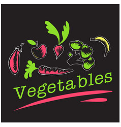 Vegetables set of vegetables background ima vector