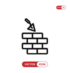 wall icon vector image
