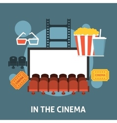 Watching a movie in the cinema vector image