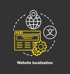 Website localization chalk concept icon website vector