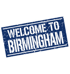 Welcome to birmingham stamp vector