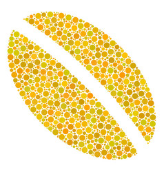 Wheat seed mosaic of dots vector