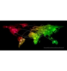 World map communication vector