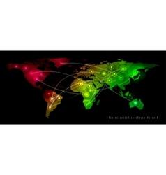 World map communication vector