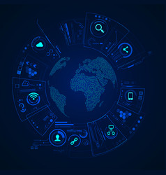 world technology vector image