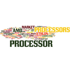 athlon processors text background word cloud vector image vector image