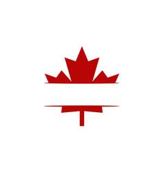 canada logo template vector image