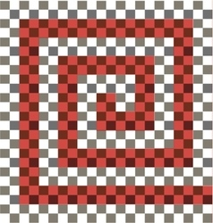 Gray white red checkered background vector image vector image