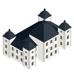 isometric white baroque castle vector image vector image
