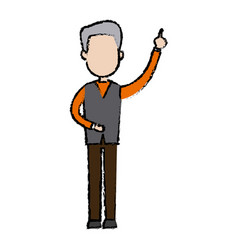 man standing male character people image vector image vector image