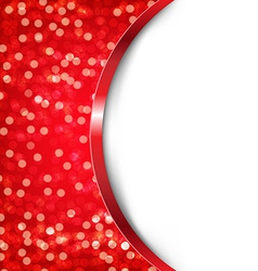 Red Card With Bokeh vector image