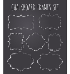 vintage chalkboard style frames collection vector image